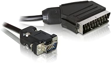 DeLOCK 65028, Níquel, VGA (D-Sub), SCART (21-pin), 2 m