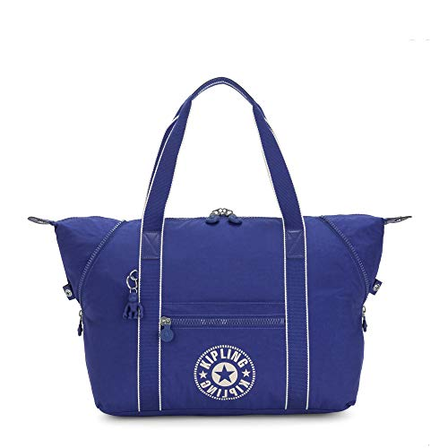Kipling Art Medium Tote Bag Laser Blue