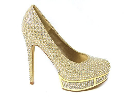 Zapatos de tacón alto con diamantes de aguja para mujer, plataforma oculta,...