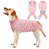 QBLEEV Dog Recovery Suit After Surgery,Pet Surgical Onesie Abdominal Wound Protector,Pet Cone E Collar Bandages Alternative Spay Recovery Vest Weaning Shirt,Post-Operative Clothes for Dogs Cats