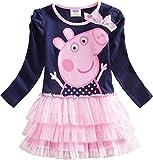 GUTSBOX Baby Kleid Mädchen süß Rosa Kleid Ballett Kleid Prinzessin Kleid Girl Kleid (Rosa, 110...