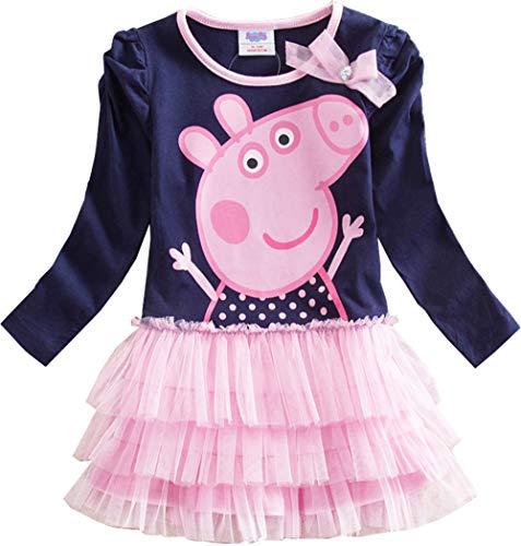 GUTSBOX Baby Kleid Mädchen süß Rosa Kleid Ballett Kleid Prinzessin Kleid Girl Kleid (Rosa, 90 (2-3Y))