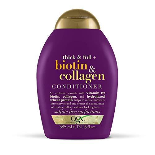 OGX, Acondicionador Biotina y Colágeno, Cabello Fino, 385 ml