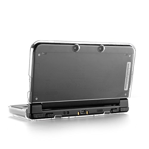 TNP Produkte 3DS Fall – Kunststoff + Aluminium Full Body Schutz Snap on Hard Shell Haut Schutzhülle für Nintendo 3DS 2015, transparent, Nintendo 3DS XL (2015 Model)