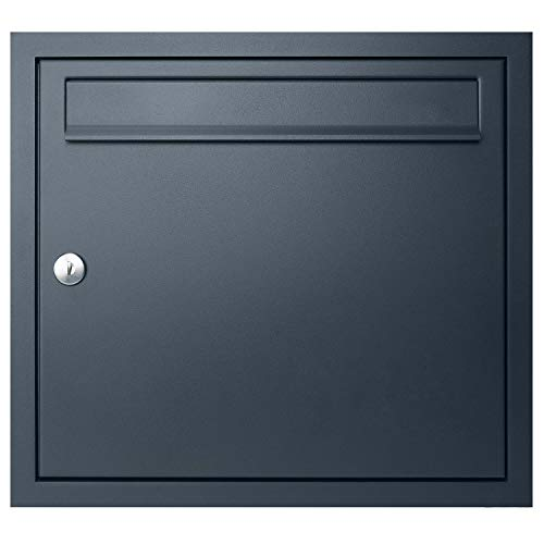 Unterputz-Briefkasten anthrazit-grau (RAL 7016) MOCAVI UP1 Qualitäts-Postkasten Unterputz, Einbaubriefkasten modern wetterfest rostfrei deutsche Markenqualität