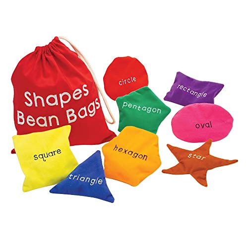 Educational Insights Shapes Beanbags Set of 8, Learn Shapes, Toddler Toys, Preschool Toys, Sensory...