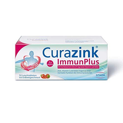 Curazink ImmunPlus - Nahrungsergänzungsmittel zur Unterstützung des Immunsystems, Lutschtabletten, 50 stück