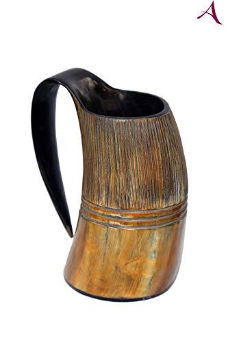 Atlántic Traders Viking - Taza de cuerno de cerveza medieval (500 ml)