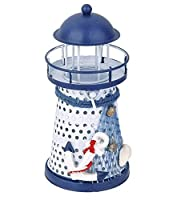 RICISUNG 小さな 灯台 鉄燭台 地中海スタイル ledライト Anchor
