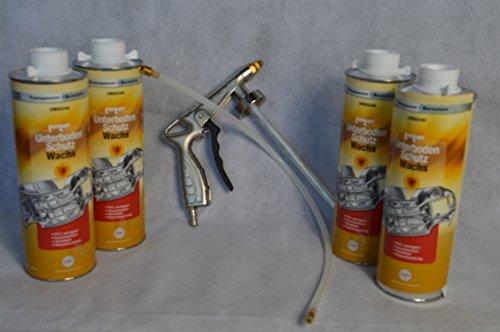 Set Fertan Druckluftpistole und 4 X UBS240 1L Unterbodenschutzwachs PKW LKW Unterboden Schutzwachs