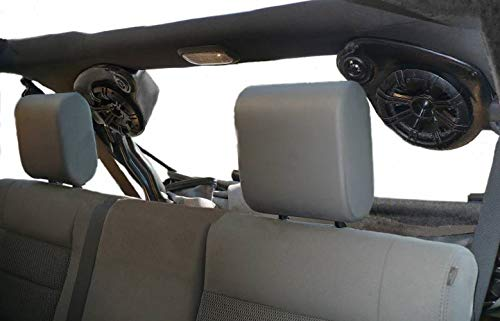 Select Increments 2007-2018 Compatible with Jeep JK Wrangler Unlimited JKU Pods with Kicker Speakers & Amplifire 30647KL