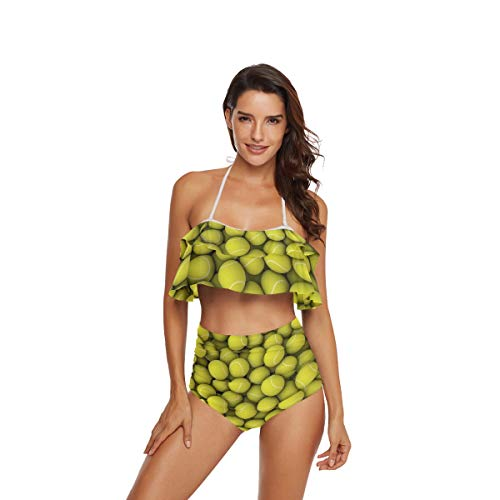 CaTaKu Sport Baseball Bikini Set Sommer Bademode Badeanzug Ocean Beach Badeanzug für Teenager Mädchen Frauen - mehrfarbig - Large