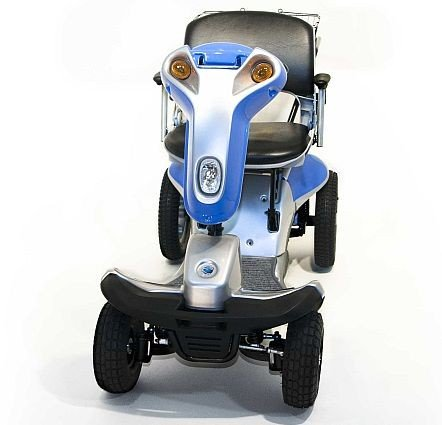 Great Price! Hummer XL Titan 4-Wheel Electric Scooter Blue + Challenger Mobility Accessories