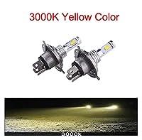 ledライト 車のヘッドライトの電球のためのMini H7 LED CPSランプH4 LED H8 H11フォグライトHB3 9005 HB4アイスブルー8000K 3000Kオート12V - 24VDC led (Emitting Color : 3000K, Socket Type : H1)