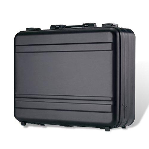 Tokers Aluminum Briefcase Attache Cases for men Laptop Metal briefcases black (black, 18.1X13.8X6.1 inch)