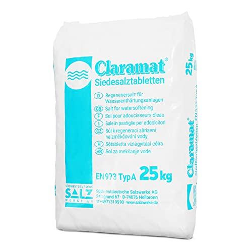 Paradies Pool GmbH Claramat Siedesalz Tabletten 25kg / Siedesalztabletten/Regeneriersalz/Enthärtersalz