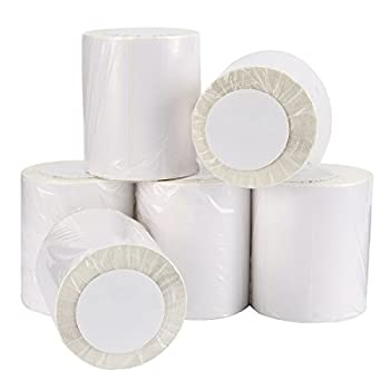 9527 Product 4x6 Blank Direct Thermal Shipping Labels for Zebra 2844 Zp-450 Zp-500 Zp-505,250 Labels/Roll,Total 6 Rolls