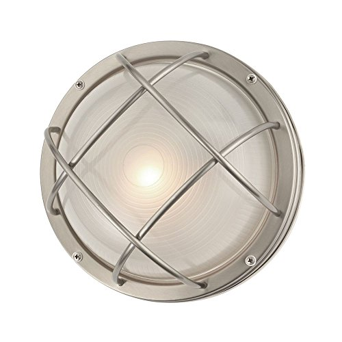 Marine Bulkhead Round Outdoor Wall/Ceiling Light - 10-inches Wide