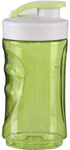300ml Trinkflasche, Ersatzflasche für Smoothies + Smoothiemaker nutzbar, verschließbarer Ersatzbehälter (grün)