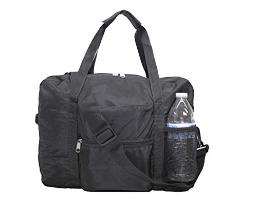 """18"""" Personal item Under Seat Duffel for Airlines Spirit Frontier AA Southwest (Black)"""