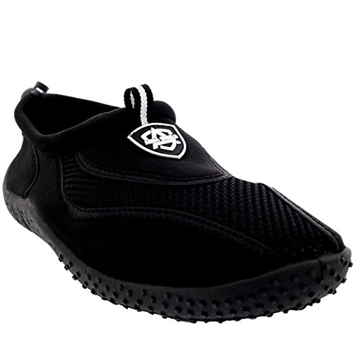 Aqua Shield Mens Toggle Surf Aqua Beach Water Socks Sport Yoga Swim Pool Water Shoes , Black , 10 UK