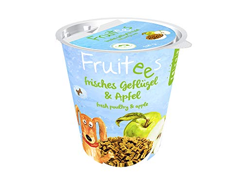 bosch Finest Snack Concept | Fruitees frisches Geflügel & Apfel | Ohne Getreide | 4er Pack mit 4 x 200 g
