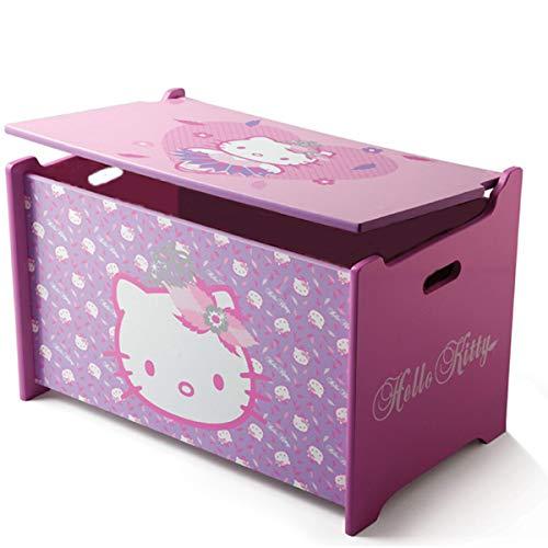 Delta Children's Products Hello Kitty Toy Box Spielzeugkiste Holz Truhe für Spielzeug Aufbewahrungsbox Kinderzimmer NEU