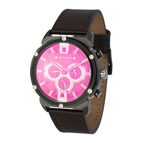 Police Reloj Analog-Digital para Mens de Automatic con Correa en Cloth S0334520