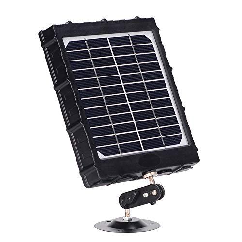 WILDGAMEPLUS Wiederaufladbares Solarpanel, 14W, 8000mAh, 12V/1,2A, 9V/1,6A, 6V/2,4A, IP66 wasserdichtes Ladegerät mit Kabeln für alle 3G/4 G Trail Hunting Game-Kameras und 12V LED-Licht WG-8000