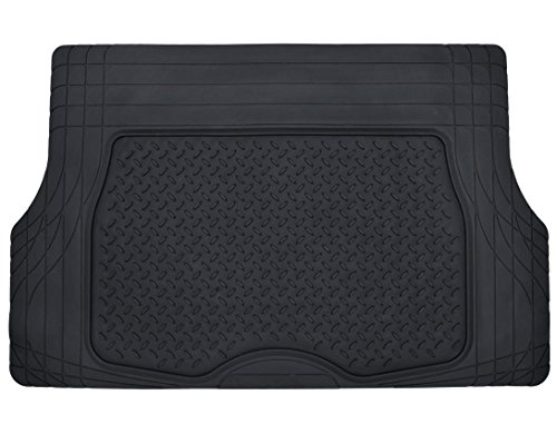 Motor Trend Odorless Heavy Duty Utility Cargo Liner Floor Mats for Car Truck SUV, Universal Trimmable to Fit Trunk, Foldable, All Weather Protection