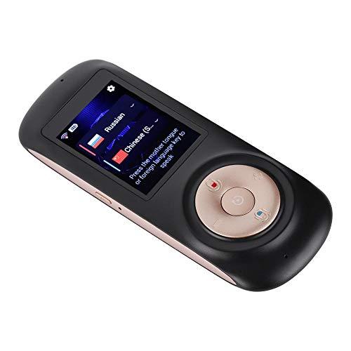 Zerone Translator Language, Smart Wireless Portable Translator Real Time Instant Voice Translation Support 52 Languages(Black)