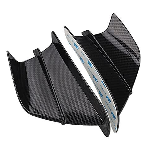 Spoiler dell'ala del Motociclo, Kit aerodinamico aerodinamico for Moto for Kawasaki Ninja ZX6R 636 ZX636R ZX6RR ZX-6 ZX10R ZX1400 ZX14R Accessorio carente (Color : 1)