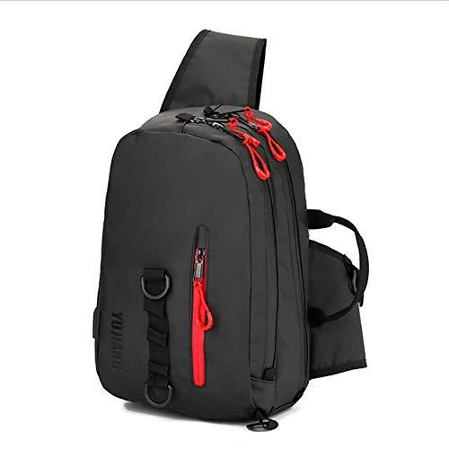 NLDM Angelgerätetasche Straßentasche Gerätetasche Wasserdichter Angelrucksack Rucksack Fliegenfischer-Brusttasche Multifunktionales Outdoor-Angeln Outdoor-Tragetasche Wandertasche