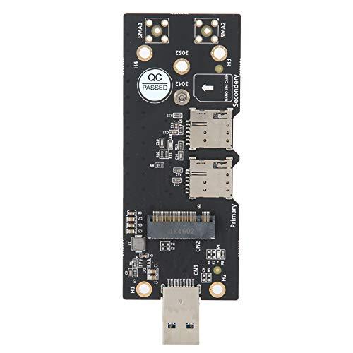 Adaptador M.2 a USB3.0, NGFF (M.2) Clave B a USB3.0 con Ranura para Tarjeta SIM Dual Accesorios de Red, Soporte M.2 Clave B Tamaño de Tarjeta del Tipo 3042/3052