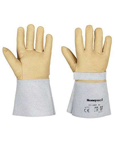 Honeywell 2012898 Schutzhandschuh für Elektrikerhandschuhe, 10 kV, Leder, Größe 10, Braun