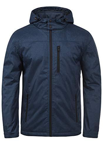 !Solid Matheo Herren Übergangsjacke Herrenjacke Jacke mit Kapuze, Größe:L, Farbe:Insignia Blue Melange (8991)