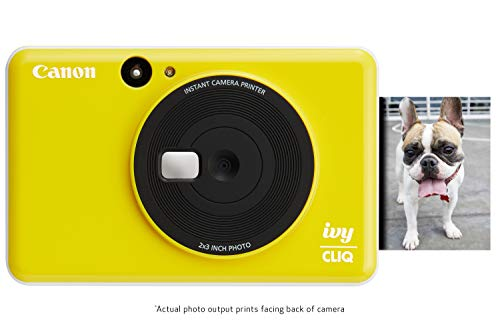 Canon Ivy CLIQ Instant Camera Printer, Mini Photo Printer with 2'X3' Sticky-Back Photo Paper(10 Sheets), Bumblebee Yellow