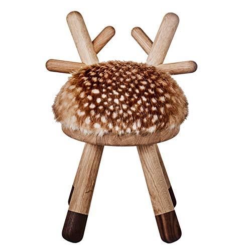 EO Denmark - Bambi Chair - Hocker, Stuhl, Kinderstuhl - REH - Holz, Kunstfell - (LxBxH): 26 x 24 x 39 cm