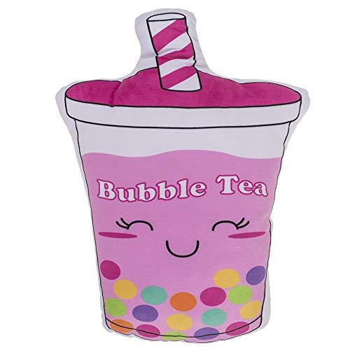 MIK Funshopping Kuschelkissen Schmusekissen Dekokissen Plüschkissen für Mädchen & Girls, weich Soft flauschig, ca. 25x35 cm (Bubble Tea)