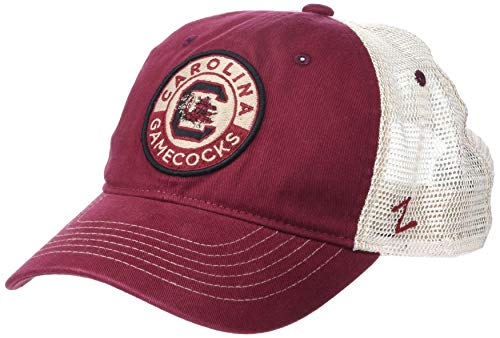 NCAA South Carolina Fighting Gamecocks Men's Lancaster Relaxed Hat, Primary team color/White, Adjustable
