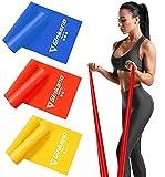 Haquno Bandas Elasticas Fitness, 1.8M Cintas Elasticas con 3 Niveles de Resistencia, Pilates, Crossfit, Estiramientos, Musculacion, Piernas, Brazos, Fuerza