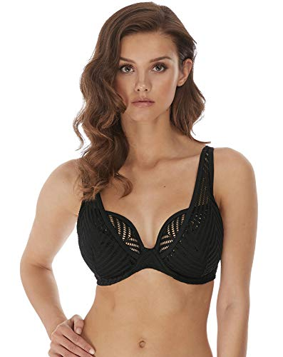Freya Womens Urban Underwire High Apex Bikini Top, 38FF, Night