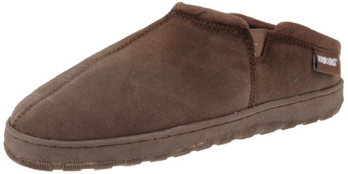 Muk Luks Men's Printed Berber Clog Sock, Chocolate, 10