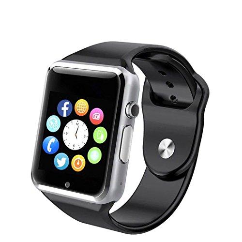 Smartwatch A1 Relógio Inteligente Bluetooth Gear Chip Android iOS Touch Faz e atende ligações SMS Pedômetro Câmera - PRATA
