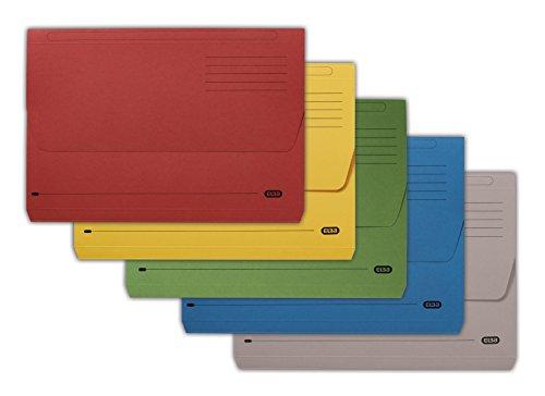 Elba Pochettes couleurs assorties Format A4document (Boîte de 50)
