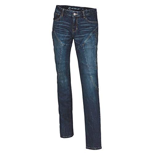 Preisvergleich Produktbild Germot Jessy Motorrad Jeans Damen regular blau Protektoren Hose Aramid Fasern,  18030034,  Größe 34 / 50