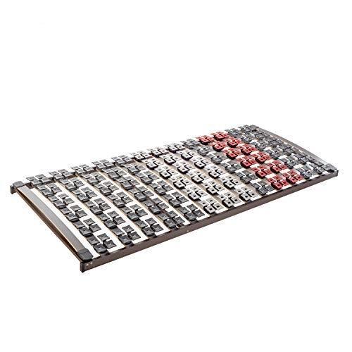 Ravensberger Matratzen Lattenrost Premium (Variflex) FIX 5-Zonen Buche Systemtellerrahmen | Starr | 4-Fach Segmentteller-Federelementen | Made IN Germany | 100 x 200 cm