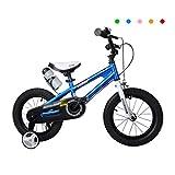 Jieer Bicicleta Montaña Niño, Bicicleta para Niños de 2 A 10 Años Bicicleta de 12 Pulgadas, 14/16 Pulgadas, Triciclo de Bebé, Bicicleta de Freno para Ciclista (Azul, 14 Pulgadas)