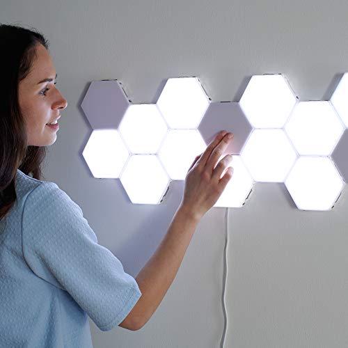 New York Wall Tiles – Lámpara de pared modular táctil hexagonal, paneles...