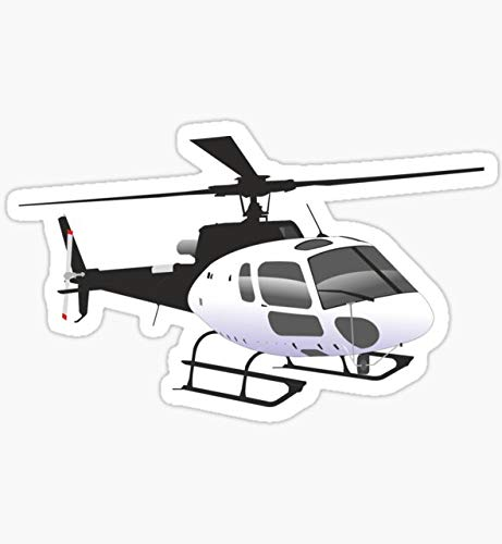 Black and White Helicopter - Sticker Graphic - Auto, Wall, Laptop, Cell, Truck Sticker for Windows, Cars, Trucks